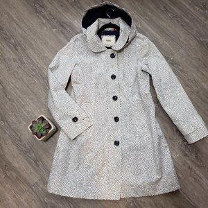 Hatley Rain Jacket Coat White Dot Sz 12